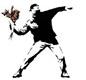 Le lanceur de fleur - Banksy