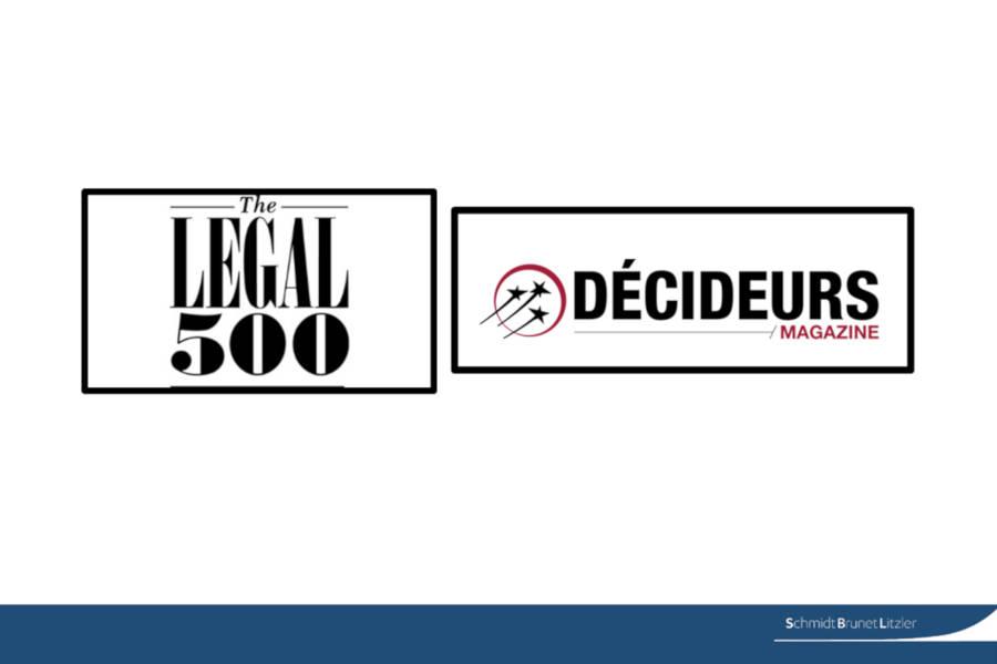 Notre département fiscal classé dans Legal 500 et le Guide Décideurs
