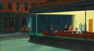 Nightawks (1942) by Edward Hopper (Art Institute Chicago)
